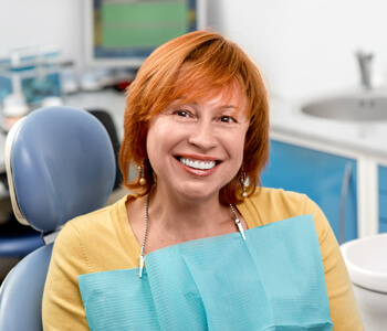 Elderly woman at dental office